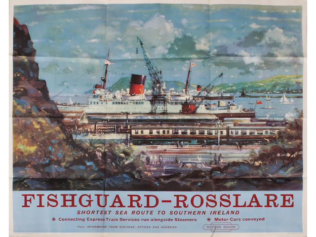 Fishguard-Rosslare Shortest Sea Route To Southern Ireland BR(W) qr John S Smith, 1960.