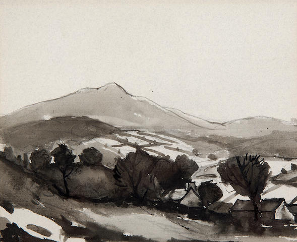 Sir Kyffin Williams  (British, 1918-2006) Fell landscape,