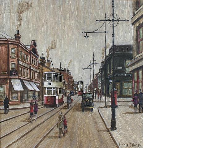 Arthur Delaney (British, 1927-1987) The Piano Shop, Stockport Road,