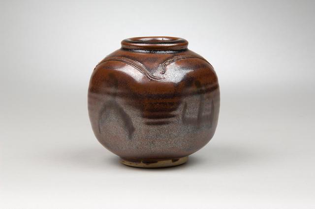 Bernard Leach a squared Vase Height 11.5cm (4 1/2in.)