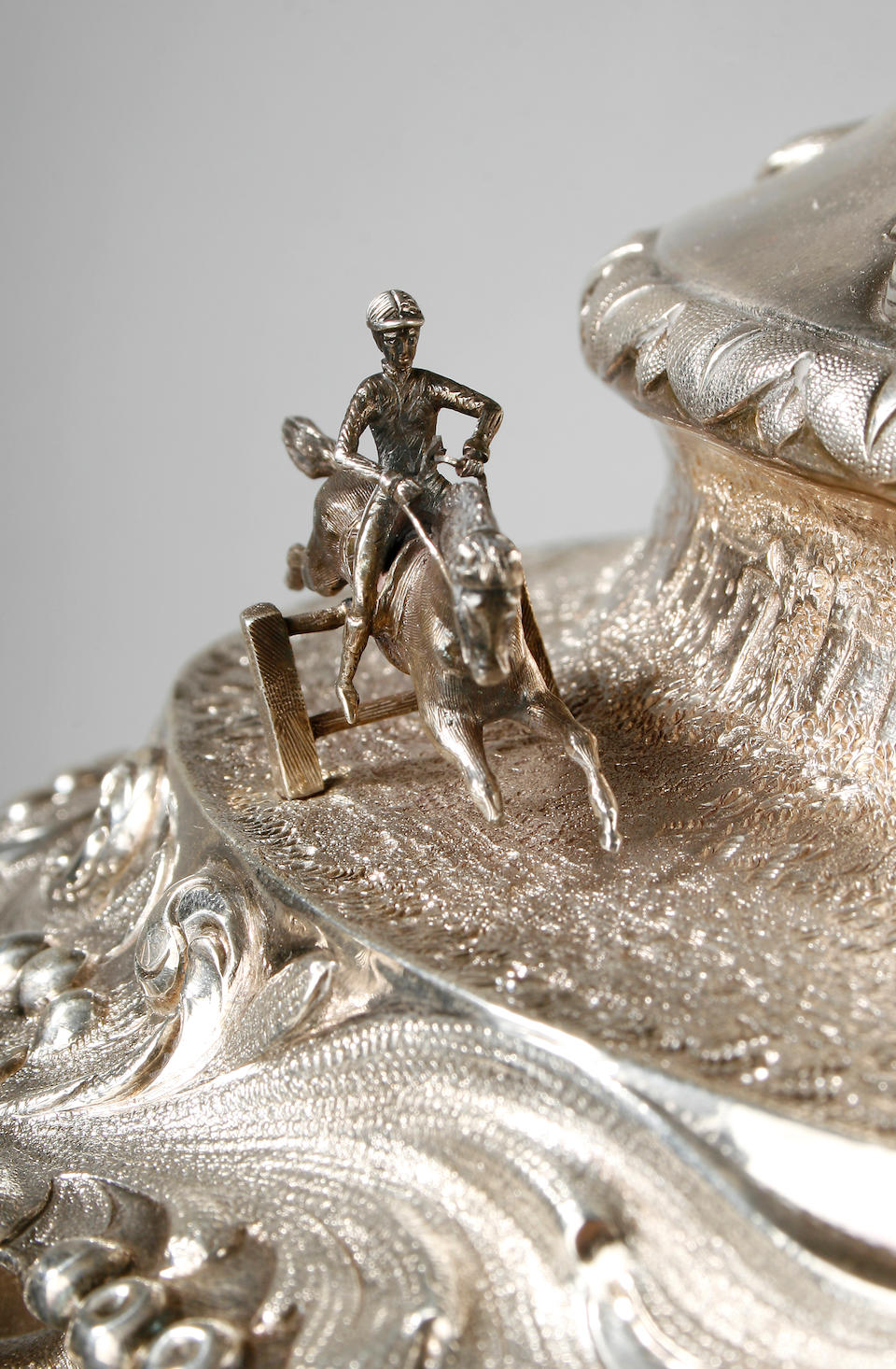 A mid Victorian Australian racing trophy and cover stamped J M Wendt, Adelaide, circa 1865,