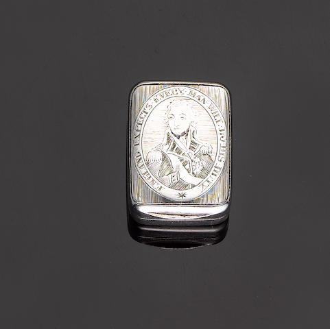 A George III silver Nelson vinaigrette, by Matthew Linwood, Birmingham 1805,