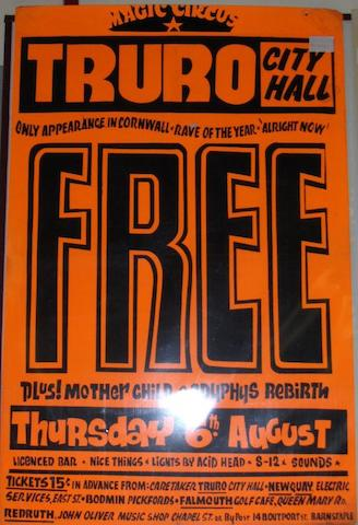 A concert poster for Free,