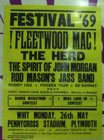 Fleetwod Mac/Ten Years After concert posters,