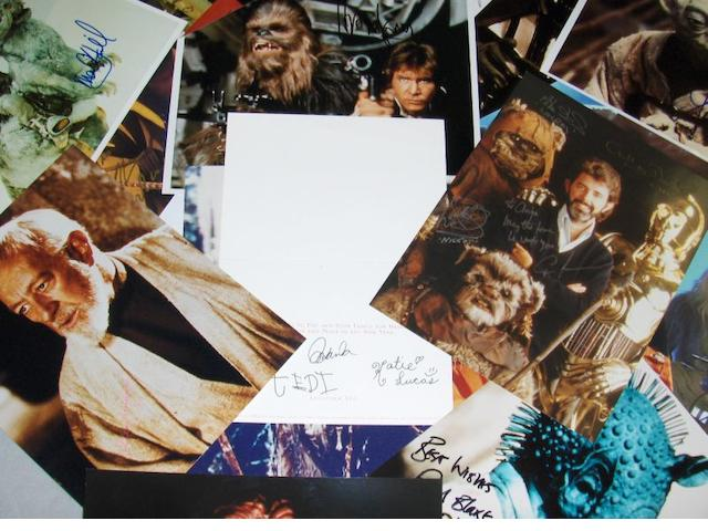 A collection of 'Star Wars' autographs,