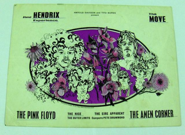 Programmes for the first two UK tours by the Jimi Hendrix Experience,