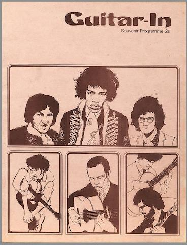 A programme for the Jimi Hendrix Experience at the 'Guitar-In',