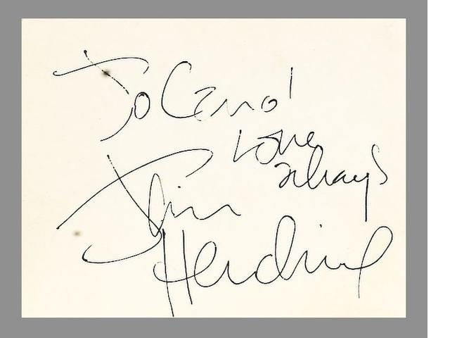 Jimi Hendrix autograph,