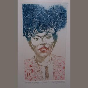 David Oxtoby: prints of Elvis Presley and Little Richard,