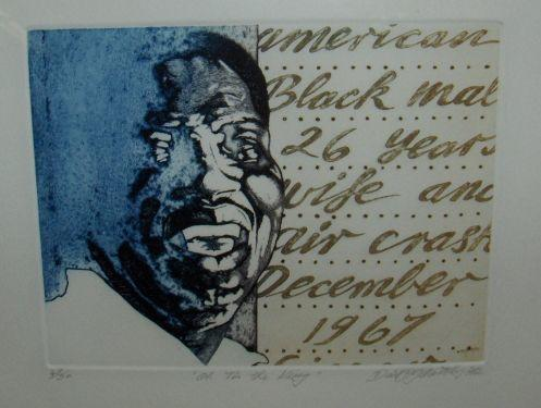 David Oxtoby: prints of Otis Redding, Charlie Mingus and Ray Charles, 1970s,