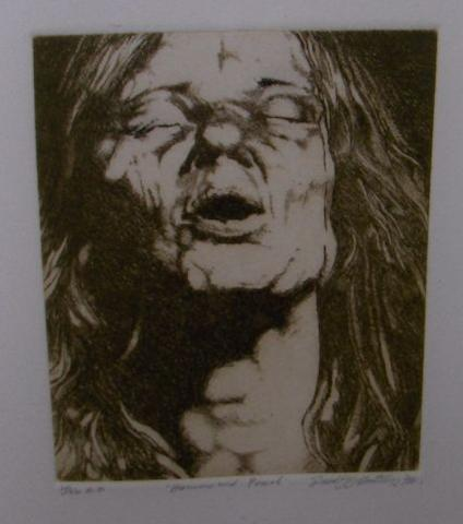 David Oxtoby: prints of Janis Joplin, Roger Chapman and Steve Marriott, 1970s,