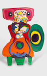 Karel Appel (Dutch, 1921-2006) Personnage 249 x 190.5 cm (98 1/4 x 75 in)