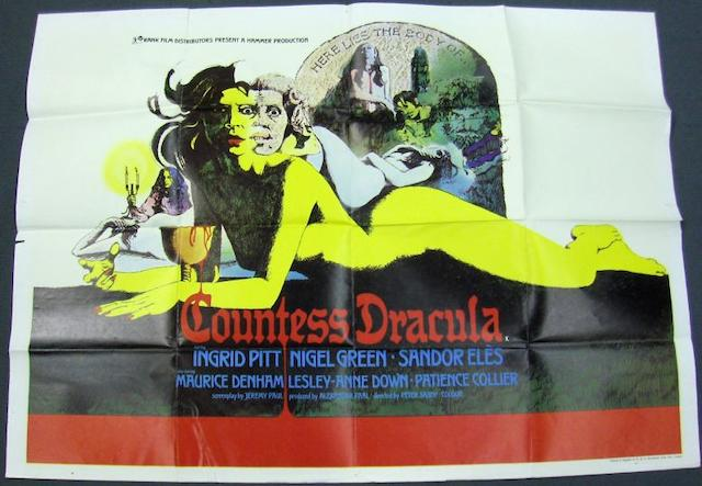 Two Ingrid Pitt related UK Quad Hammer posters, The Vampire Lovers, MGM-EMI, 1970 and Countess Dracula, J.Arthur Rank Film Distributors, 1971,