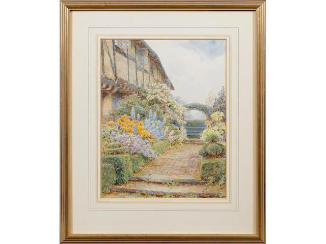 George Samuel Elgood (British, 1851-1943) Brick Walk, Knockwood