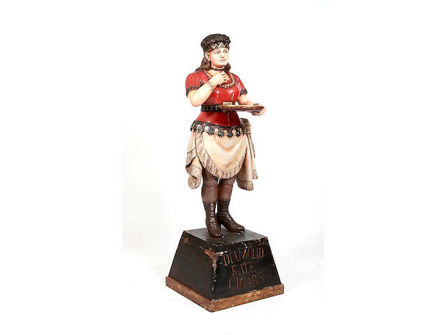 A 20th century carved and painted advertising figure