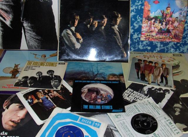 A collection of Rolling Stones records,