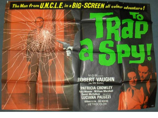 Two Man From UNCLE related UK Quad film posters, including;