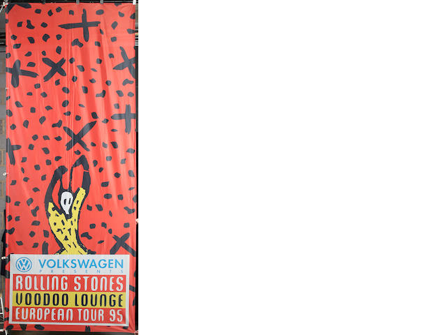 A large Rolling Stones 'Voodoo Lounge' European tour banner, 1995,