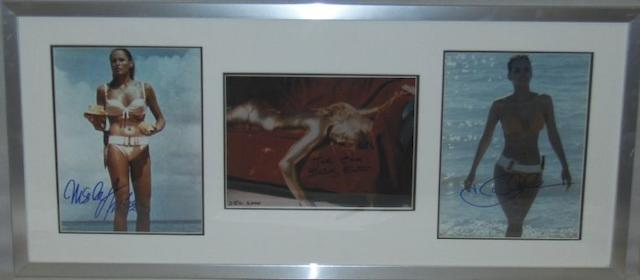 Three Bond Girl related autographed photographs, including;