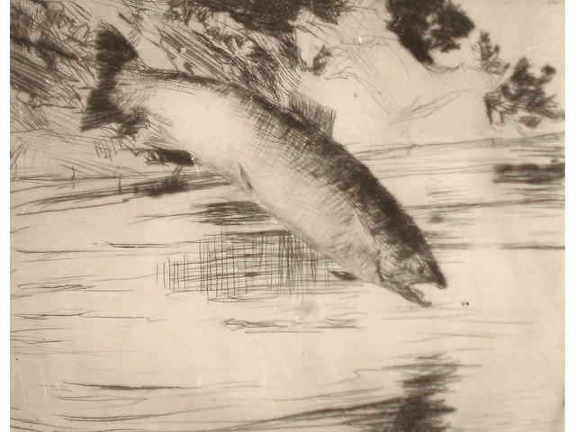 Frank Weston Benson (American, 1862-1951) Salmon