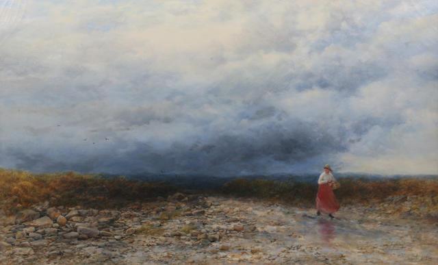 Peter Deakin, R.B.S.A. (British, active 1854-1884) 'Crossing a Moor'