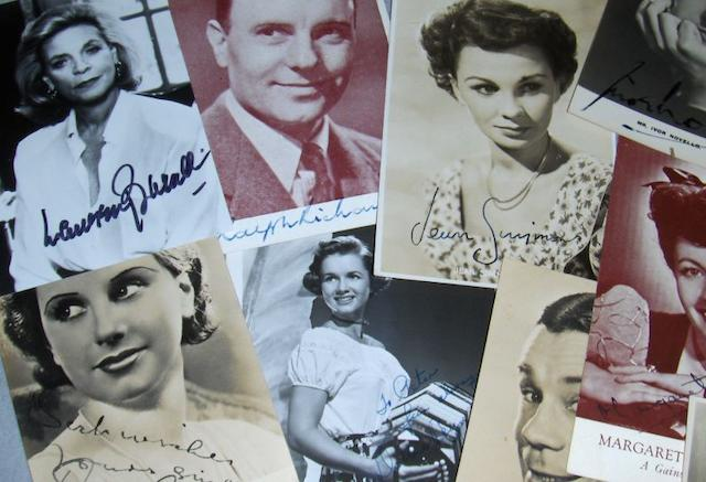A collection of autographs, various dates,
