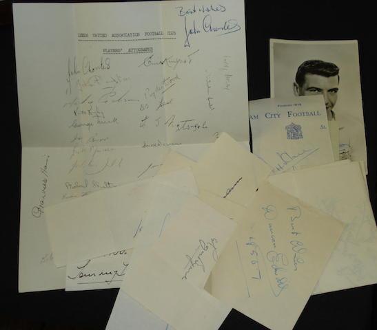 1955 - 1960 miscellaneous autographs