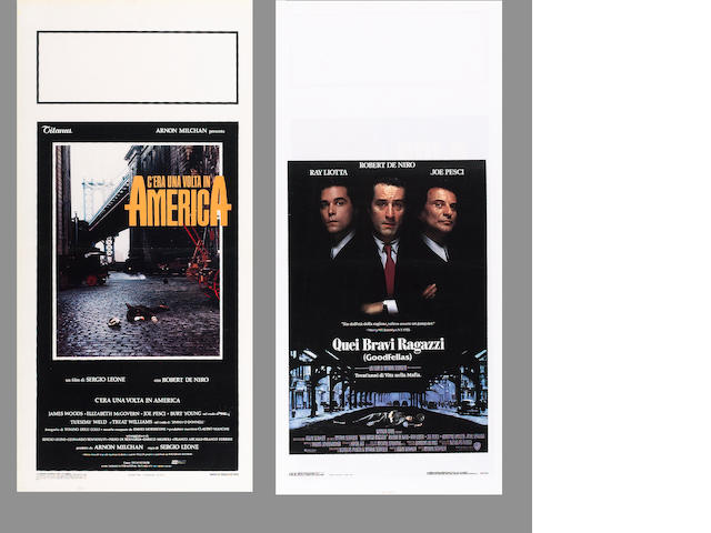 A collection of three Gangster film related posters, all Italian Locandine, including;