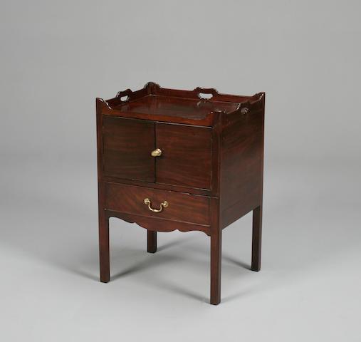 A George III mahogany bedside cabinet