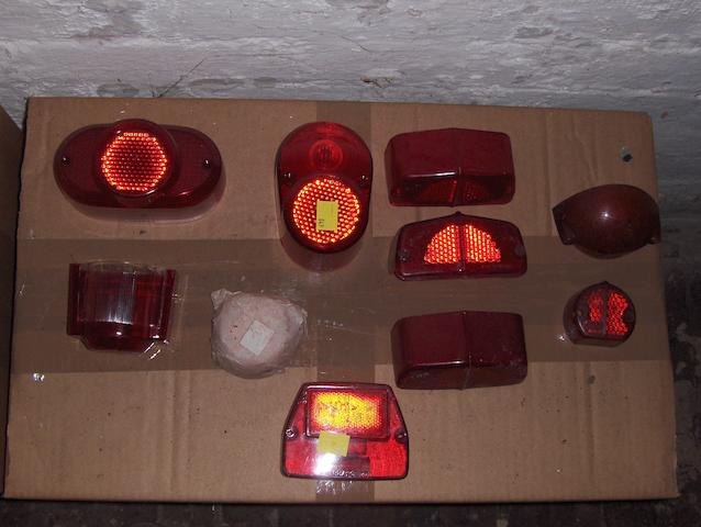 A selection of largely NOS tail-lamp lenses. (12)