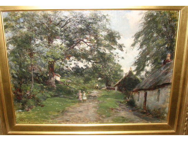 William Darling McKay, RSA LLD (British, 1844-1924) 'On the Old Tarbet Road, Arrochar'