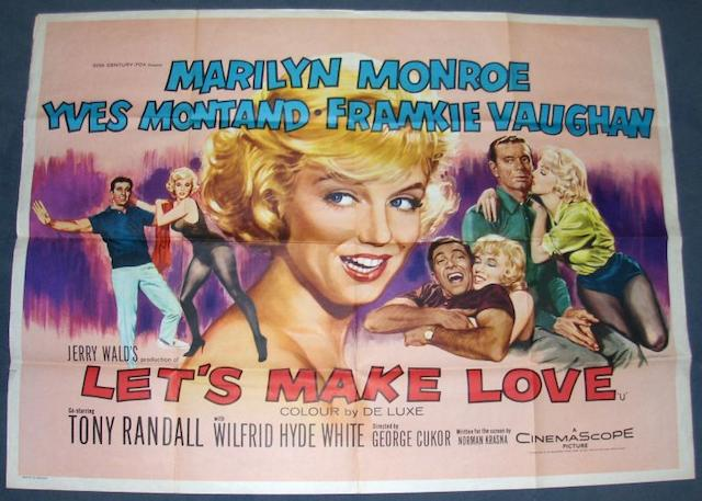 A collection of six Marilyn Monroe related film posters, including;