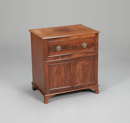 A mahogany converted commode