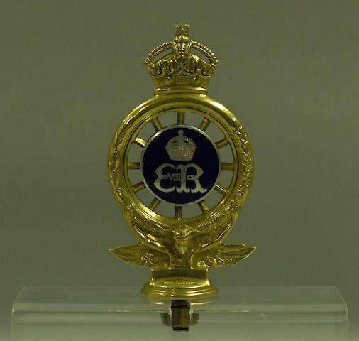 A fine and rare Edward the VIII 'Royal' RAC full member's badge,