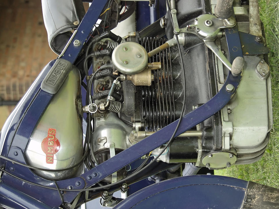 1938 Nimbus 750cc Four & Bender Sports Sidecar  Frame no. 4236 Engine no. Sidecar chassis no. A4038