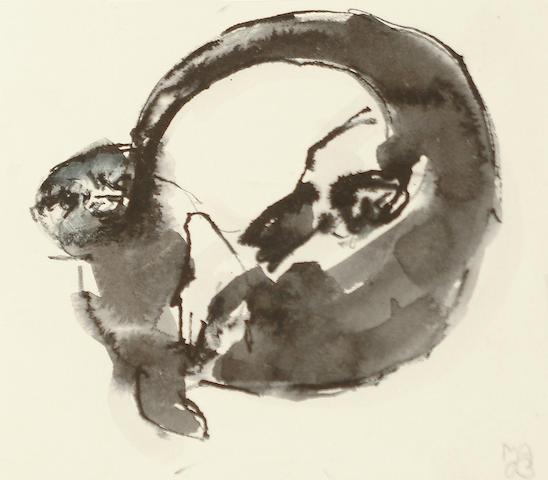 Mark Adlington (British, born 1965) Sketch of an otter