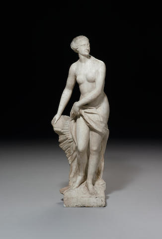 A French carved white marble Diane 18th century