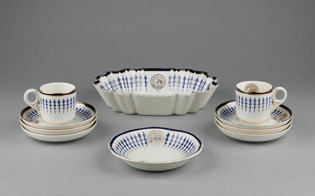 An early 20th Century Jockey Club part coffee set