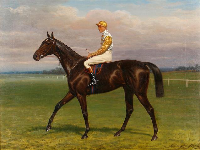 Harington Bird (British, 1846-1936) Rock Sand with jockey up