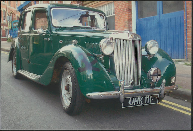 The ex-Dick Jacobs,1952 MG YB Saloon YB/0414