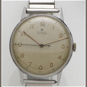 Rolex. A stainless steel centre seconds wristwatch1950's