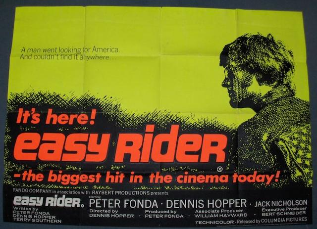 Two Road Movie related UK Quad posters, Easy Rider, Columbia, 1969 and Two-Lane Blacktop, Universal Pictures, 1971,