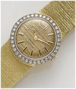 Eternamatic. A lady's 18ct gold diamond set automatic wristwatch1960's