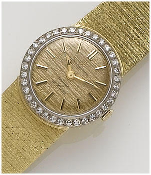 Eternamatic. A lady's 18ct gold diamond set automatic wristwatch 1960's