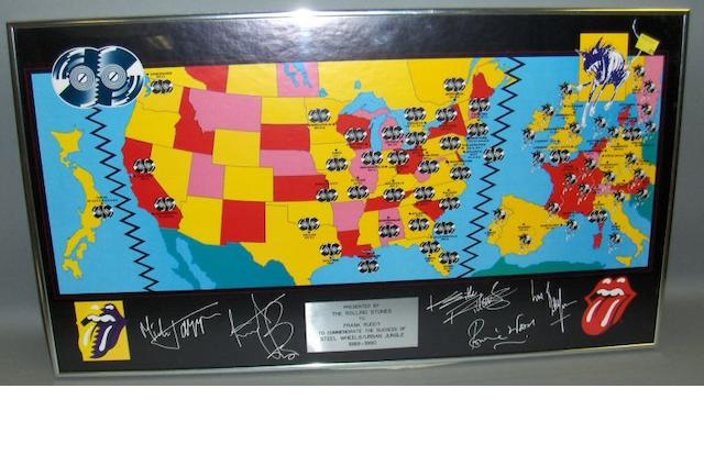 Rolling Stones tour crew souvenir items,