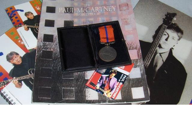 Paul McCartney tour crew items,