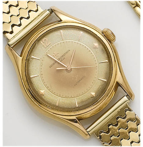 Vacheron Constantin. A gents 18ct gold centre seconds wristwatch 1950's