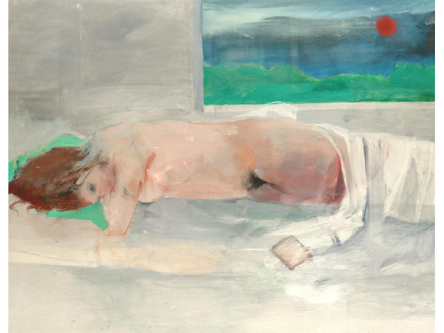Anthony Fry (British, born 1927) Sleeping nude