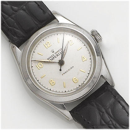 Rolex. A stainless steel centre seconds wristwatch Oyster Imperial, 1940's