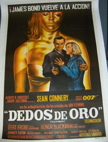 A collection of three James Bond related posters, including: